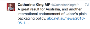 Katherine King tweet